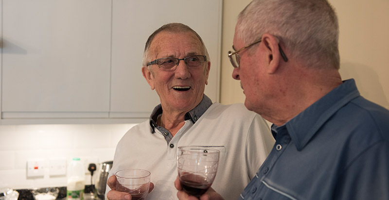 A residents' get together at Captain Webbs