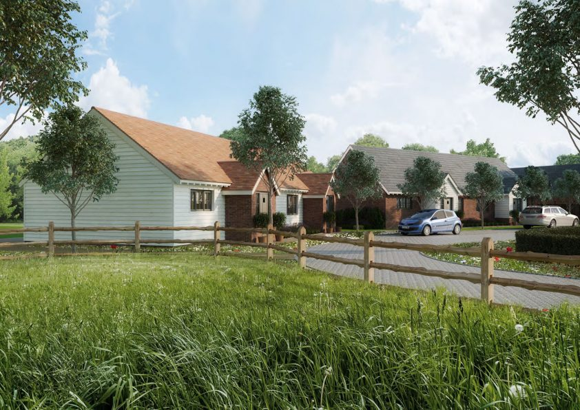 Oak Field Lodge Render